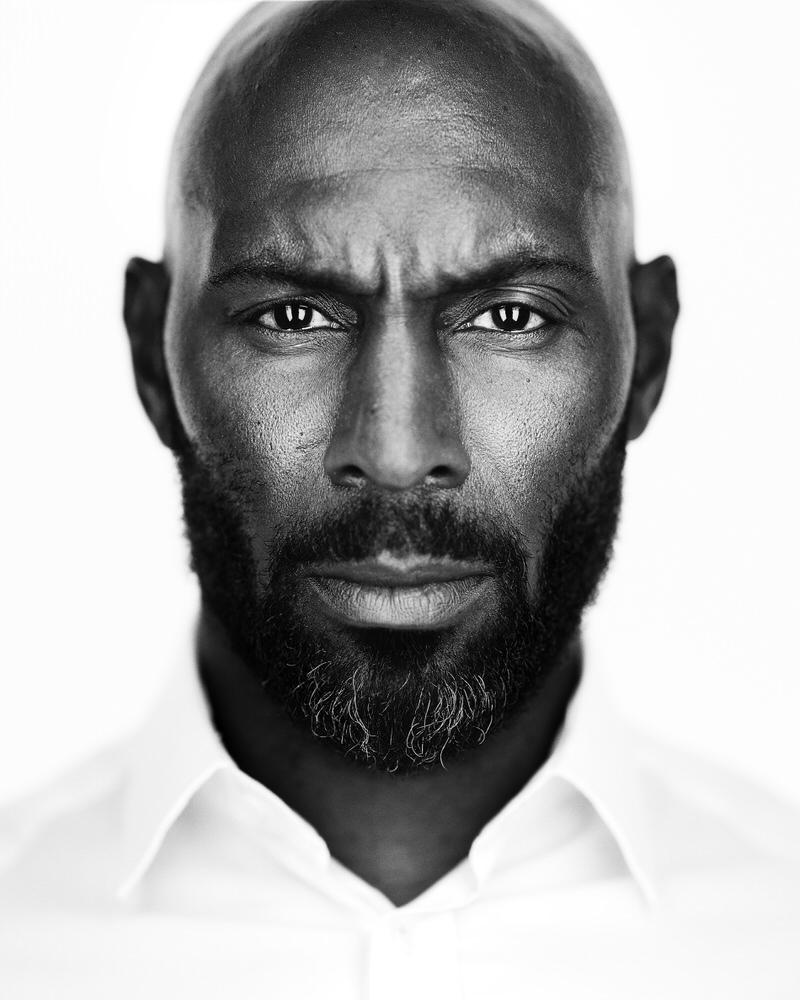 Black and white headshot